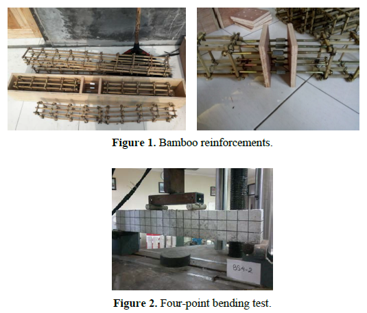 Precast segmental bamboo reinforced concrete beams with bolted connections subjected to flexural loads: an experimental investigation