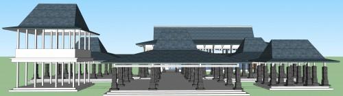 Pembuatan Detail Engineering Design Museum Tertutup Pengembangan Kawasan Cagar Budaya Majapahit Trowulan Mojokerto Jawa Timur